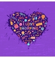 Shopping heart vector image vector image