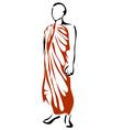 shwedagon monk vector image vector image