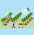 smart farm vector image vector image