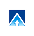 square arrow business finance logo vector image