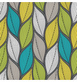 stylized colorful leaves seamless pattern nature vector image vector image