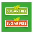 Sugar free label set vector image vector image