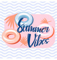 summer vibes pool banner template design vector image