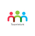 teamwork icon business concept on white background vector image vector image