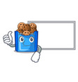 thumbs up with board cartoon fried falafel is vector image