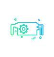 water pump icon design vector image