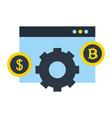 website dollar bitcoin money business fintech vector image vector image