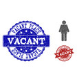 worker person distress icon and seals vector image vector image