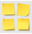yellow sticker with paper clip attached vector image vector image