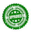 round stamp approved vector image