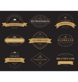 Set of classic vintage banners or labels vector image