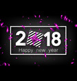 2018 new year background with gift vector image vector image