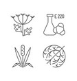 allergens linear icons set vector image