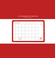 before merry christmas organizer planner notepad vector image vector image