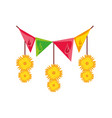 bhai dooj indian flowers banner pennant detailed
