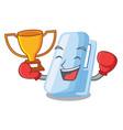 boxing winner stapler in a the cartoon wallet vector image vector image