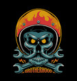 brotherhood motorcycle vector image