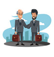 businessmen at city vector image