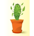 cactus plant in a pot vector image vector image