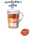 cambodian coffee vector image