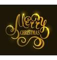 Christmas handwriting gold typography vector image vector image