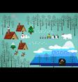 Christmas theme landscape vector image