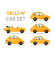 city cars set vector image