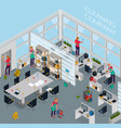 cleaning service office isometric vector image vector image