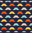 colorful moustache symbols seamless pattern vector image