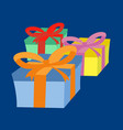colorful surprise gift boxes vector image