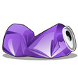 crumpled tin can purple color isolated on white vector image