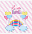 cute baby love card vector image