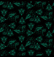 dark green and black ethnic and foliage seamless vector image vector image