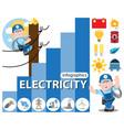 electricity infographics energetics icons vector image