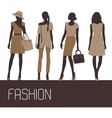 fashion woman silhouettes vector image vector image