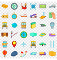 fast delivery icons set cartoon style vector image vector image