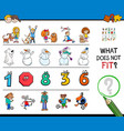 find incorrect picture in a row educational game vector image vector image