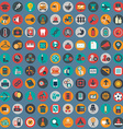 Flat icons design modern big set of various vector image