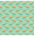 floral pattern chamomile light green vector image vector image