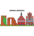 germany greifswald city skyline architecture vector image vector image