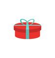 gift box icon flat birthday present giftbox vector image vector image
