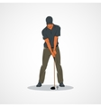 Golf Sport player vector image vector image