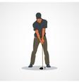 Golf Sport player vector image