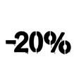graffiti discount made stencil -20 percent vector image vector image