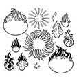 graphic fire flames vector image vector image
