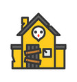 haunted house filled outline style editable stroke vector image vector image