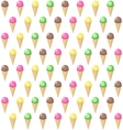 ice cream in a waffle cone pattern
