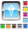 Icecream square button vector image