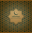 islamic pattern background vector image