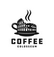 italian colosseum coffee logo vector image